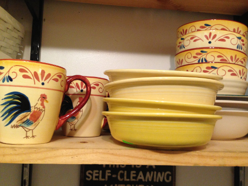 The Fiesta Ware bowls, in sunflower and light yellow look great with my other dishes.