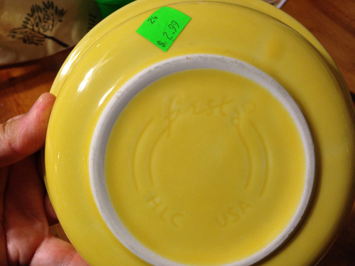I didn't think $2.99 was bad for fiesta ware. Seems like the individual pieces and the sets go for way more than that.