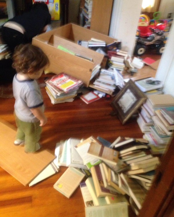 cheap book case explosion